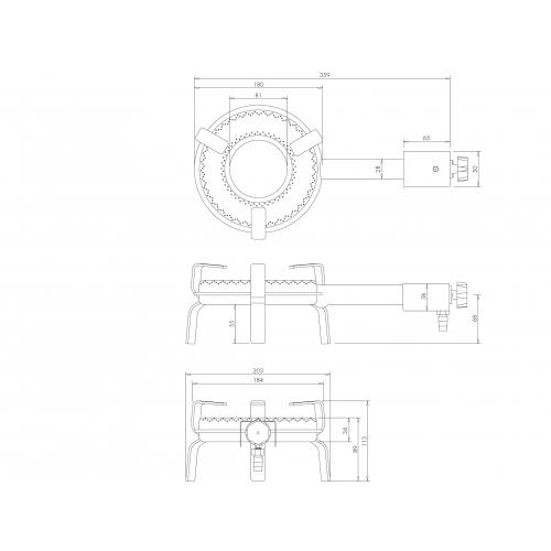 Outdoor gas burner T-180 (4,1kW)